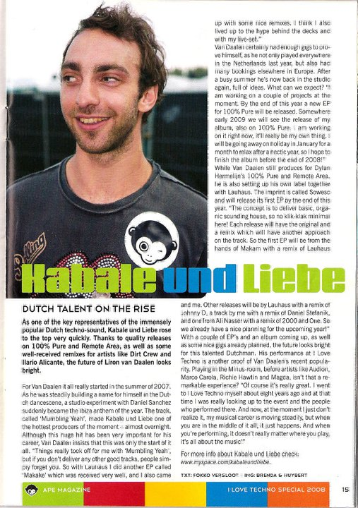Interview APE Magazine 2008