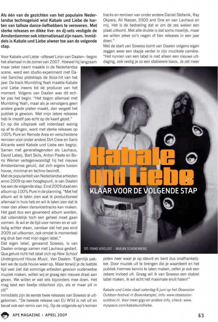 Interview APE Magazine 2009
