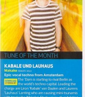 Tune Of The Month: Kabale und Lauhaus - Makake
