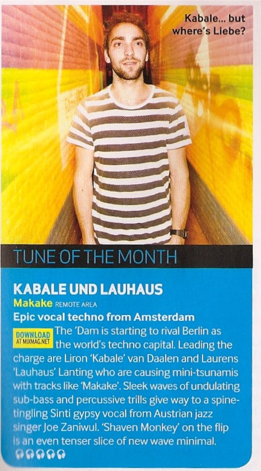 Tune Of The Month: Kabale und Lauhaus – Makake