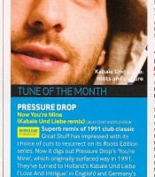 Tune Of The Month: Pressure Drop - Now You're Mine (Kabale und Liebe Remix)